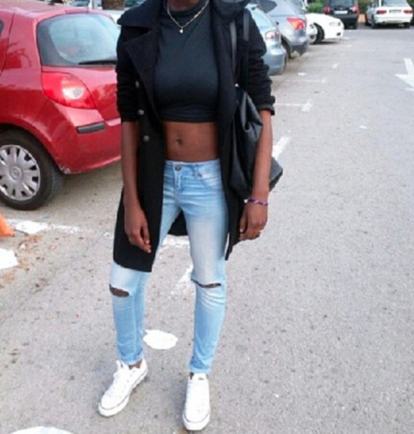 Cropped Ripped Jeans - Xtellar Jeans