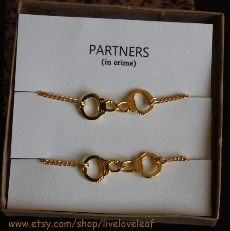 Partners in crime matching Best Friends Bracelets by LiveLoveLeaf, $25.00 | ISO | Pinterest