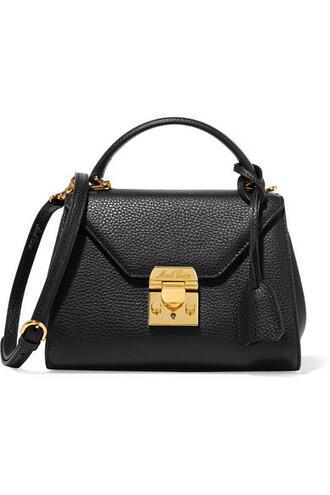 baby bag shoulder bag leather black