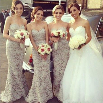 dress prom prom dress lace grey classy classy dress fashion sexy sexy dress grey dress ivory ivory dress bridesmaid shiny cute cute dress amazing sweetheart dress maxi maxi dress long long dress beautiful
