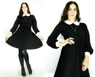 dress peter pan collar black dress peter pan collar dress lace peter pan collar three fourths sleeve circle skirt