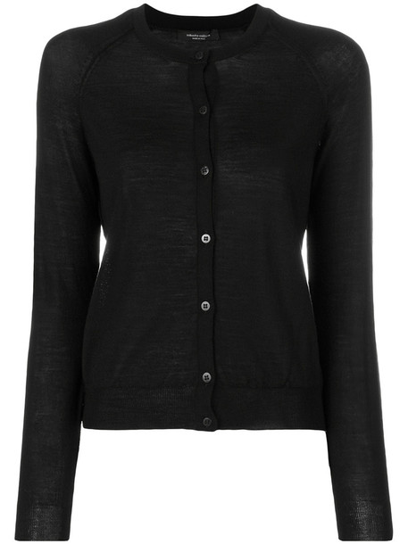 Roberto Collina cardigan cardigan women black wool sweater