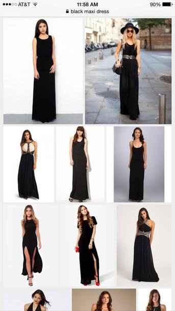 dress black dress black maxi dress maxi dress slit dress