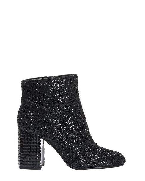 glitter ankle boots black shoes