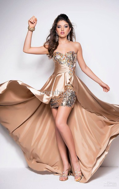 Dress Bag High N Low Gold N Glimmer Prom Dress Evening Dress Formal Event Outfit ...