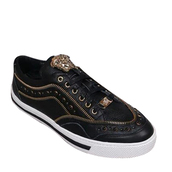 shoes,versace leather low top sneakers