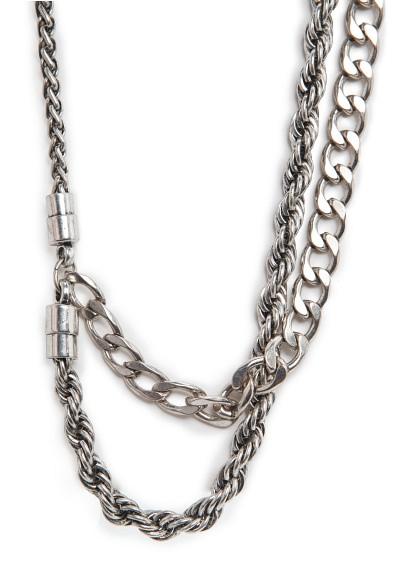 glam grunge chain necklace