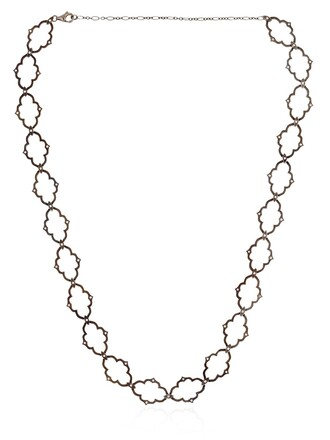 moon necklace white black jewels