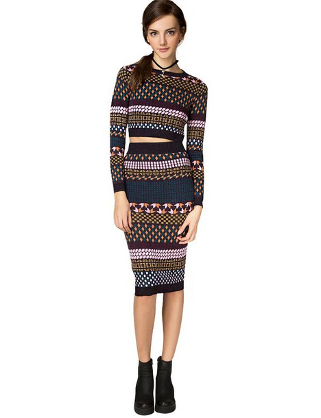 Dress Knit Two Piece Set Knit Matching Set Sweater Dress Set Fitted Pencil Skirt Fall ...