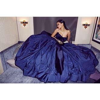 dress fashion blue dress big bang theory wow stunning rihanna swimsuit
