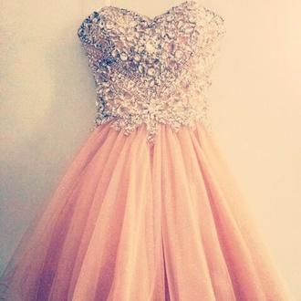 dress peach glitter prom dress glitter prom dress