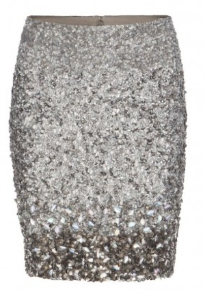skirt sequins silver silver sequins tight skirt