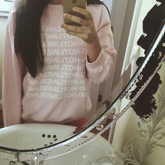 sweater zaful hotline bling pink fashion trendy style casual girly pretty dope