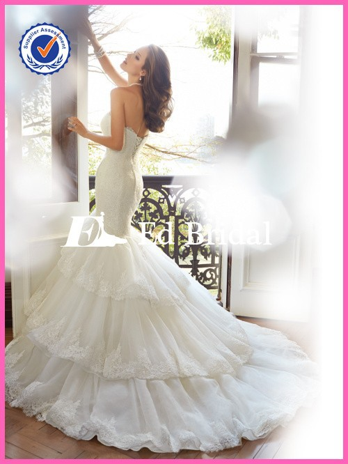 Ew289 2015 sexy open back sweetheart gowns tiered skirt fishtail lace wedding dress, view wedding dress, ed bridal wedding dress product details from gusu district rongsenzhiai wedding dresses & evening dress factory on alibaba.com