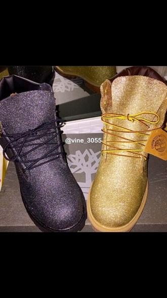 shoes timberlands timberlands boots glitter