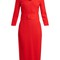 Fox v-neck wool-crepe pencil dress