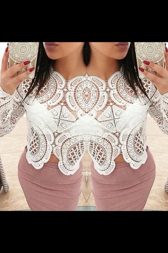 top white top lace top white t-shirt white dress party formal pretty