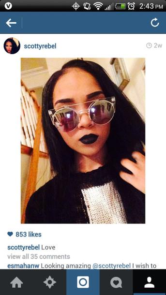 sunglasses transparent clear