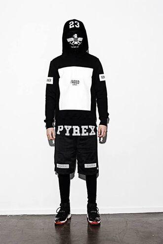 streetwear wiz khalifa tyga mens hoodie mens shorts pyrex blvck