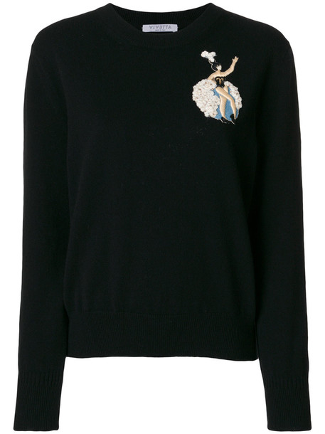 VIVETTA sweater women black wool