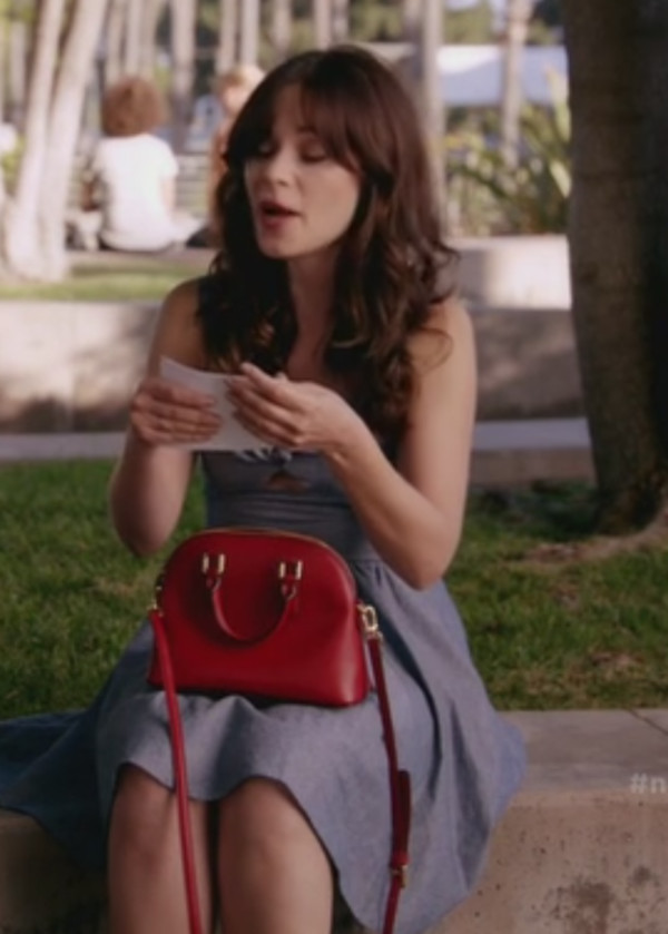 new girl zooey deschanel dress bag shoes