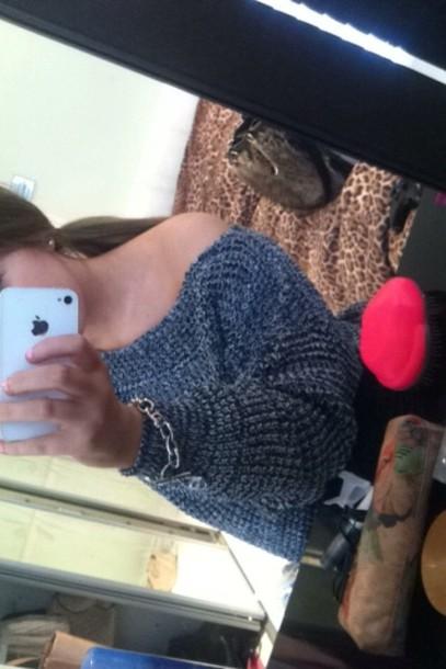 sweater brunette grey sweater