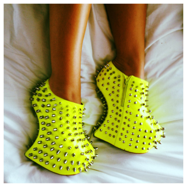 shoes wedges studded studded heels green summer heel less