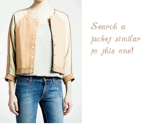 jacket dandy nude jacket leather jacket high school style vintage beige jacket baseball jacket cotton