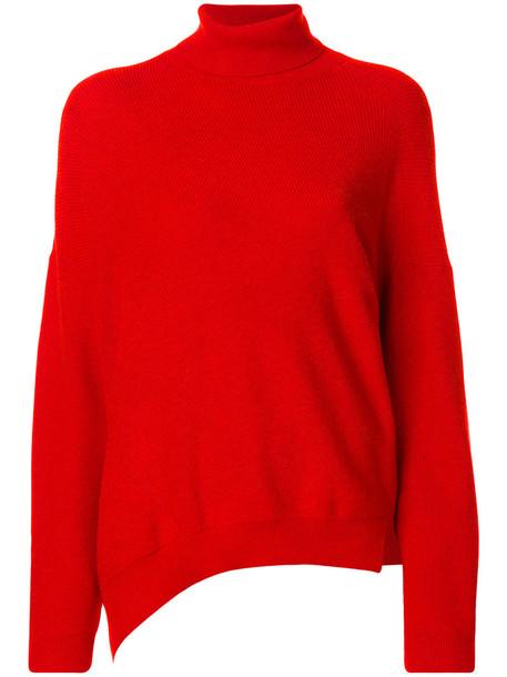 Vanessa Bruno Athé jumper women cotton wool yellow orange sweater