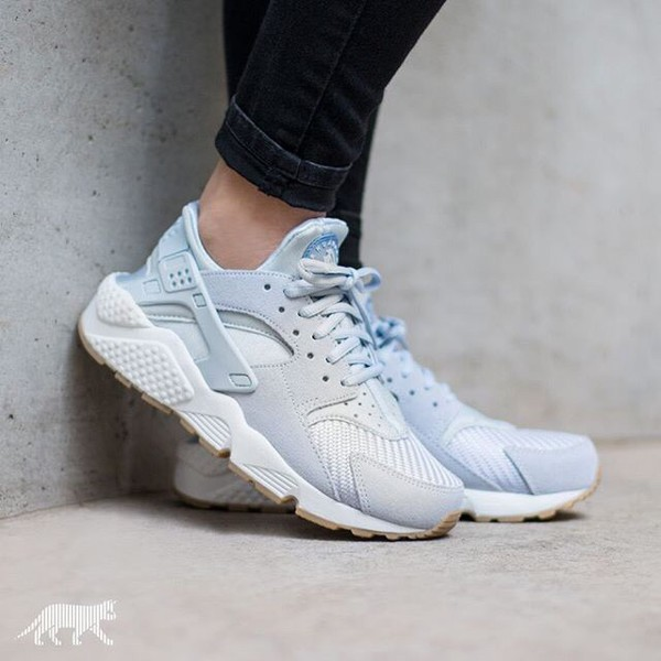 Shoes Nike Huarache Blue Sneakers Wheretoget