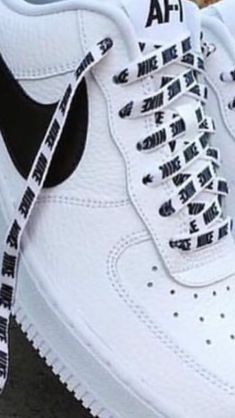 Laces Nike Air Nike Shoelaces Force White Black Shoes Shoe ASHwY