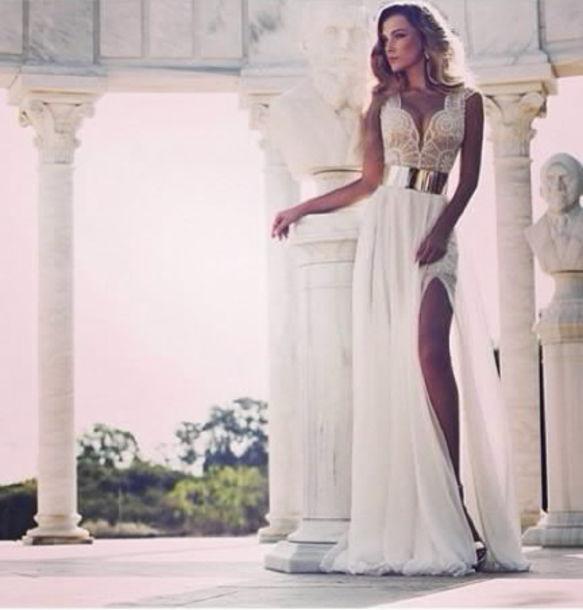 Long shirt dress facebook white gold