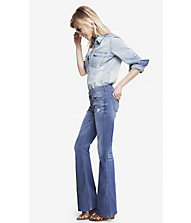 MID RISE SLIM FLARE JEAN from EXPRESS