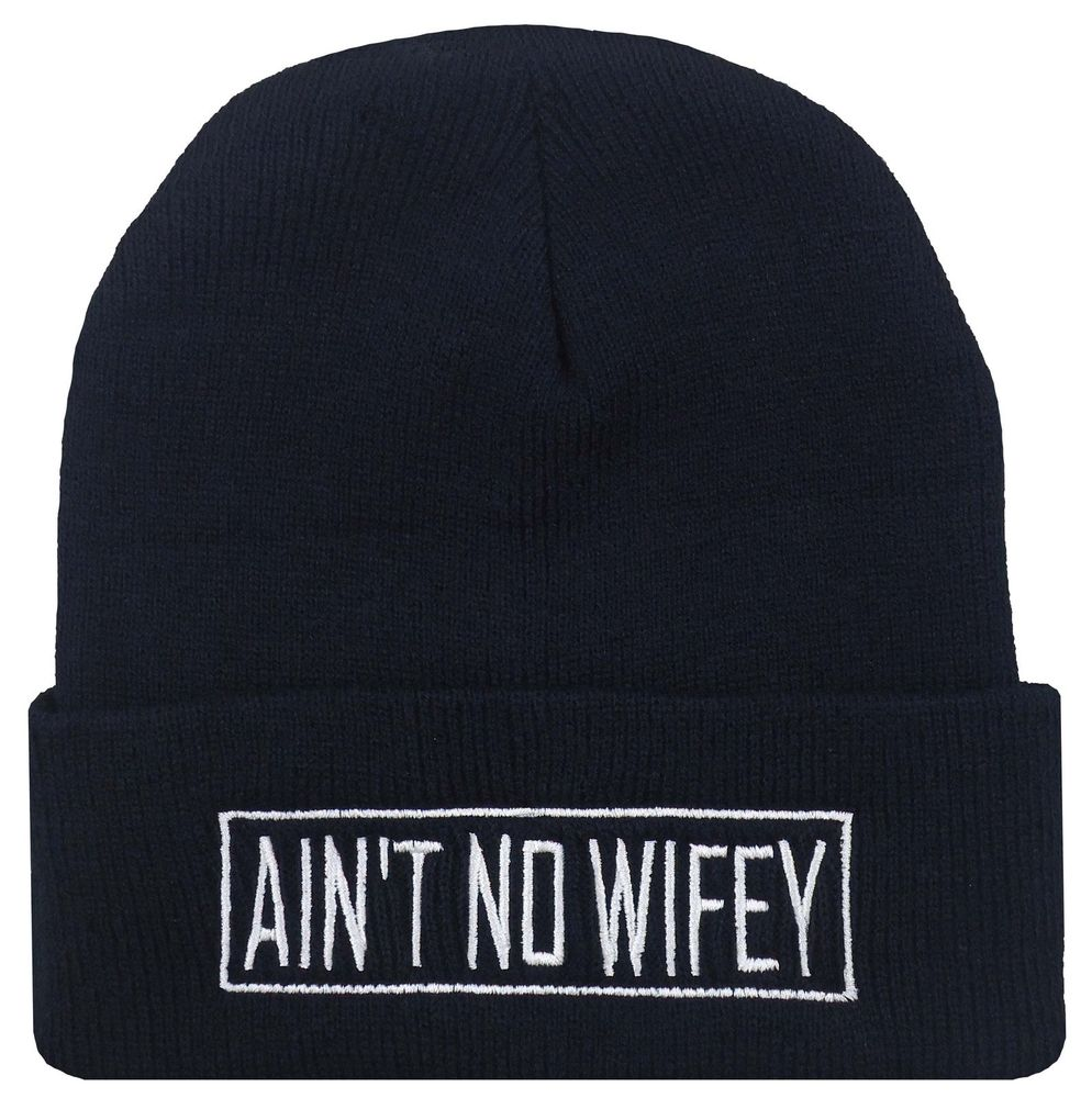 New Stylish Hip Hop Cool Black White Ain'T No Wifey Cuffed Beanie Cap Hat | eBay