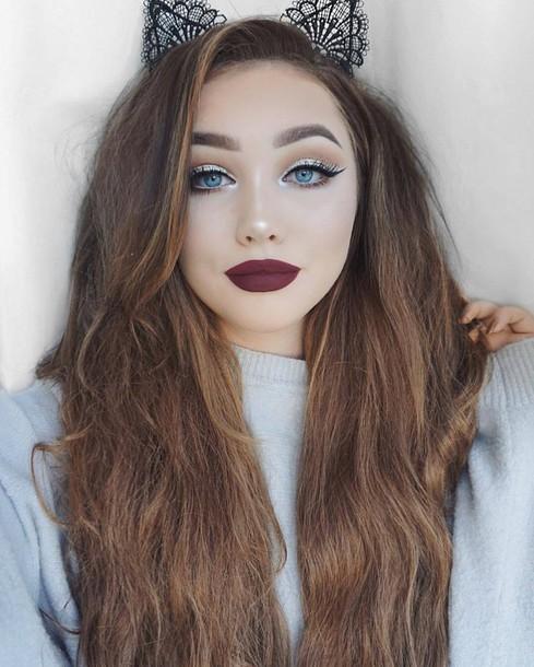 Make-up, Fall Makeup Look, Dark Lipstick, Lipstick, Lips