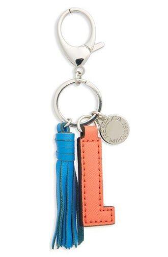 bag keychain letter bag charm charm tassel silver blue bag accessoires
