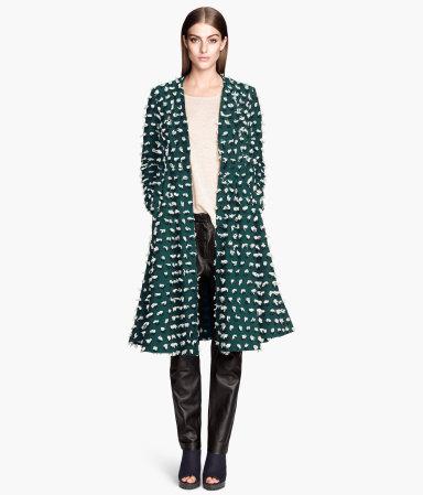 H&m flared coat $129