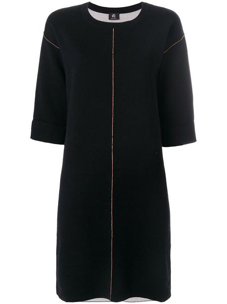 PS By Paul Smith dress shirt dress t-shirt dress women midi cotton black