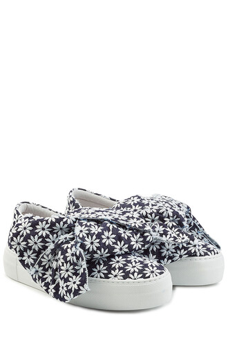 sneakers. embroidered sneakers blue shoes