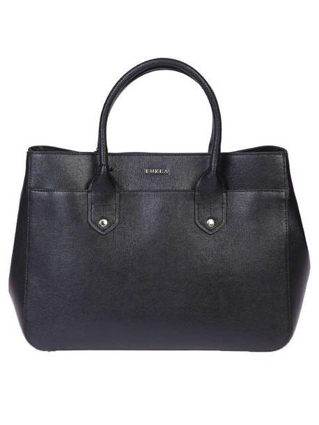 Furla bag leather bag leather black
