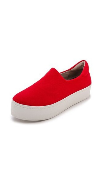 sneakers platform sneakers red shoes
