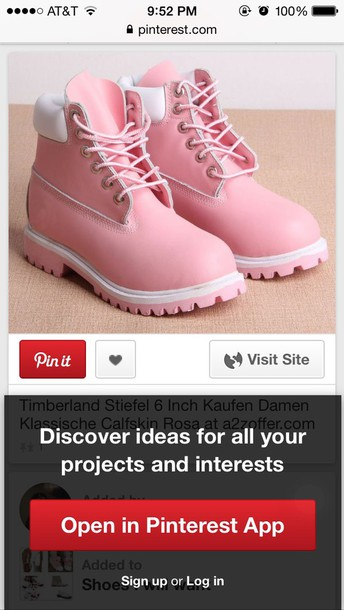 shoes timberland boots pastel pink