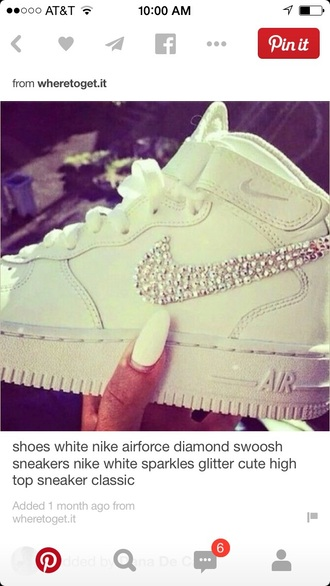diamond swoosh high top sneakers