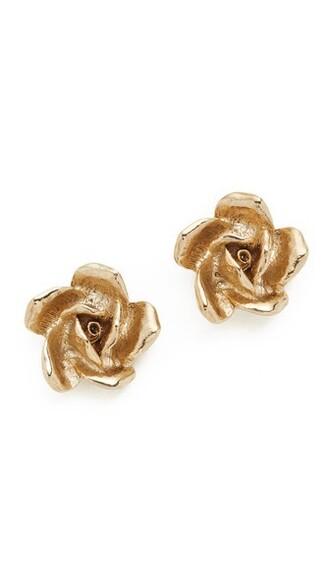 rose light earrings gold jewels