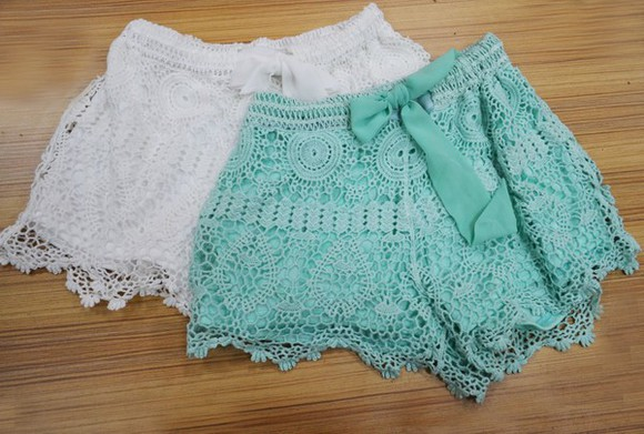 lace shorts clothes