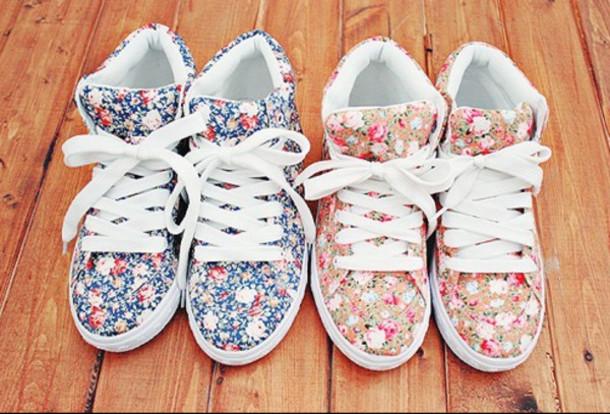 Floral Print Sneakers