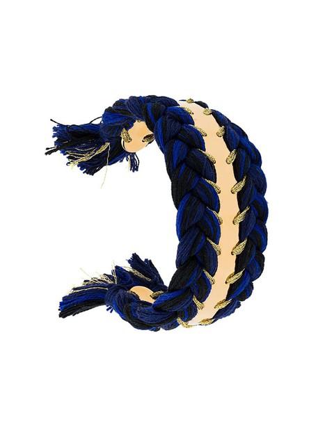 AURELIE BIDERMANN women gold cotton blue jewels
