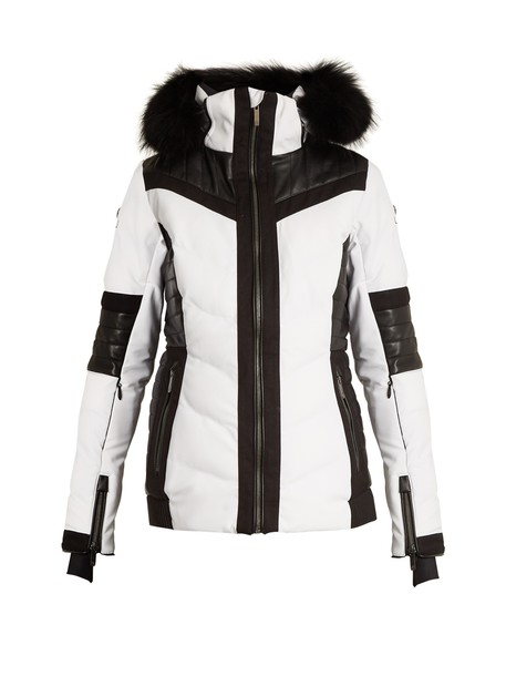 Lacroix jacket fur white black