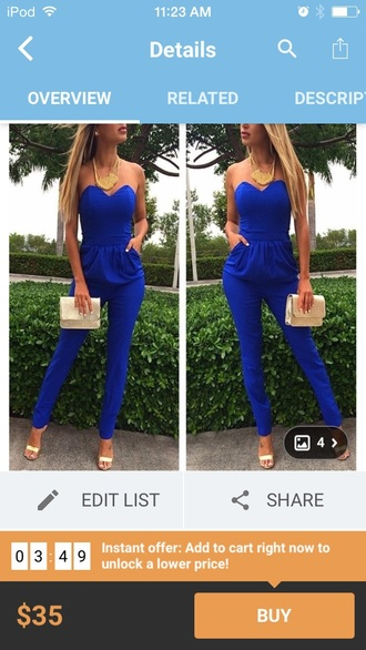 jumpsuit dark blue