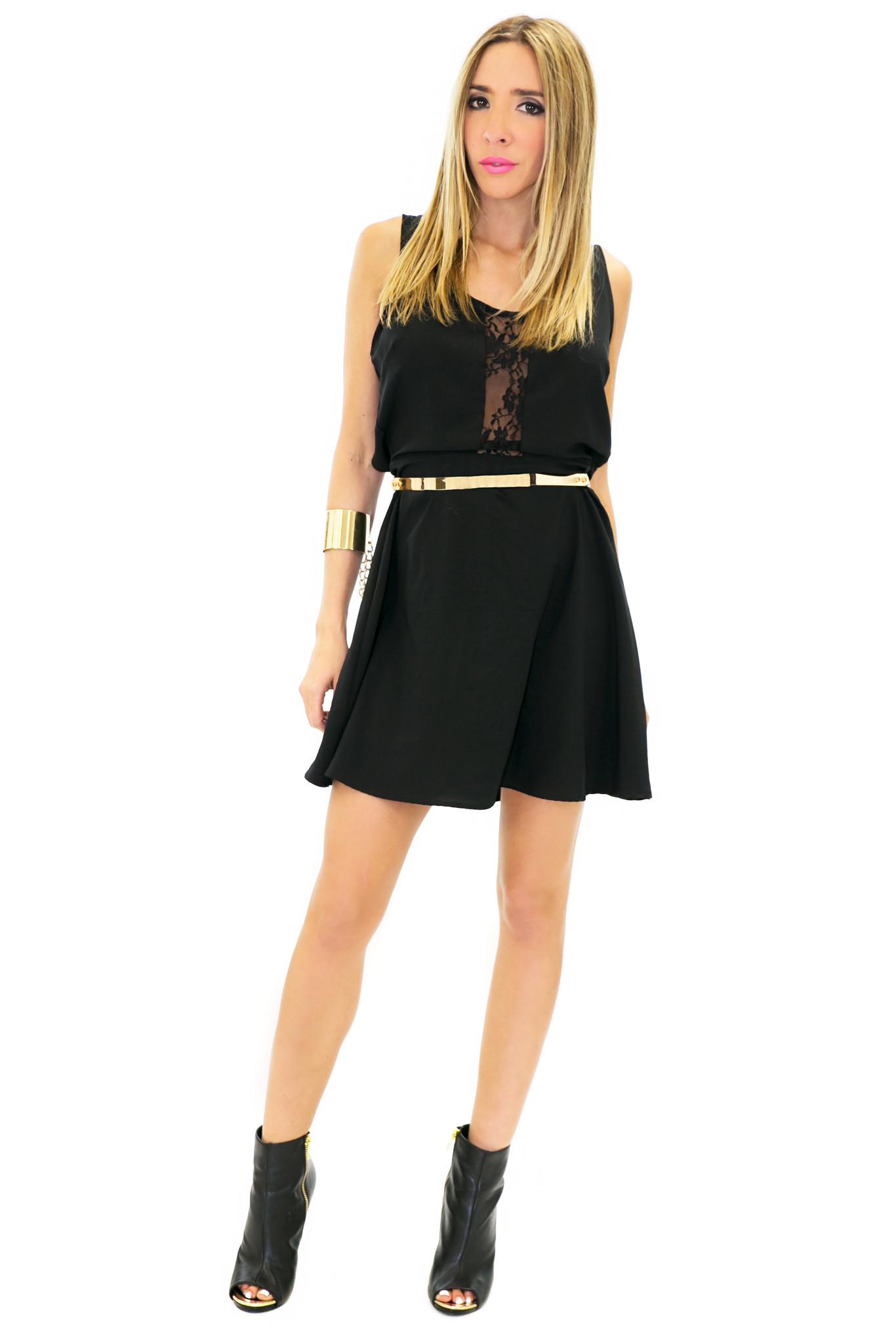 Janet lace cutout dress